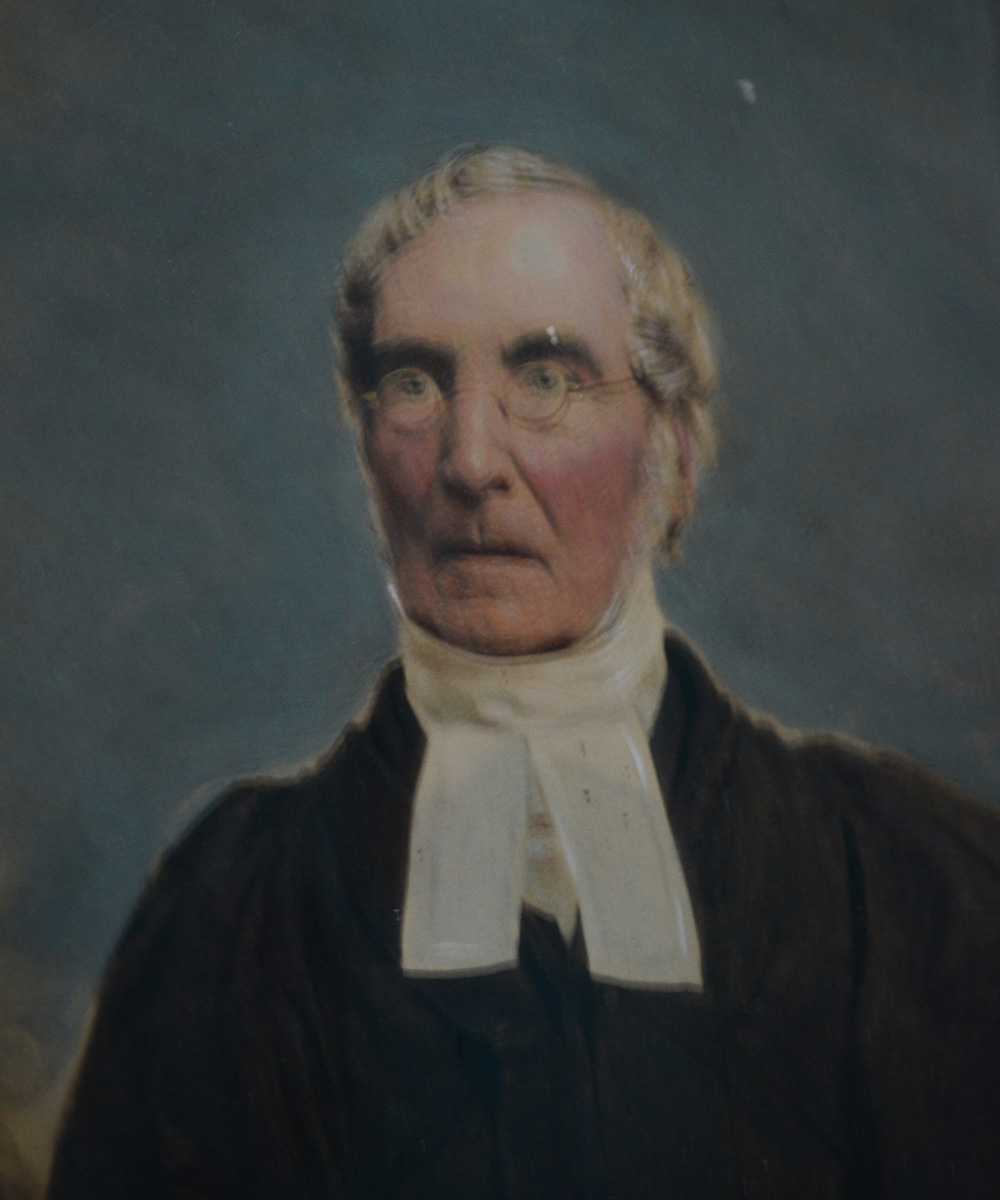Painting of past Rector of St James Garlickhythe the Revd Thomas Burnett DD